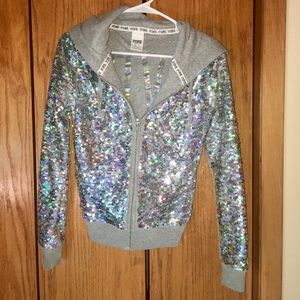Limited Edition VS PINK Fashion Show Sequin Zip